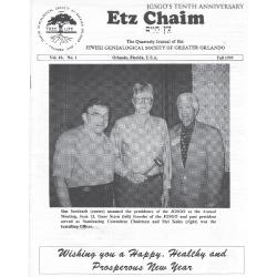 Jewish Genealogical Society of Greater Orlando Etz Chaim Vol 10 number 1