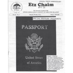 Jewish Genealogical Society of Greater Orlando Etz Chaim Vol 10 number 2