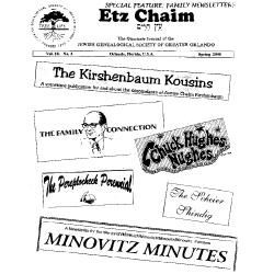 Jewish Genealogical Society of Greater Orlando Etz Chaim Vol 10 number 3