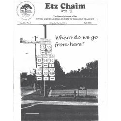 Jewish Genealogical Society of Greater Orlando Etz Chaim Vol 11 number 1