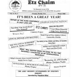 Jewish Genealogical Society of Greater Orlando Etz Chaim Vol 11 number 2