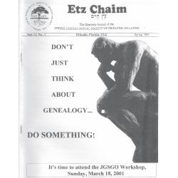Jewish Genealogical Society of Greater Orlando Etz Chaim Vol 11 number 3