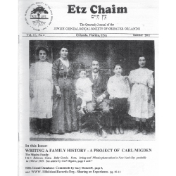 Jewish Genealogical Society of Greater Orlando Etz Chaim Vol 11 number 4