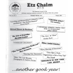 Jewish Genealogical Society of Greater Orlando Etz Chaim Vol 12 number 2