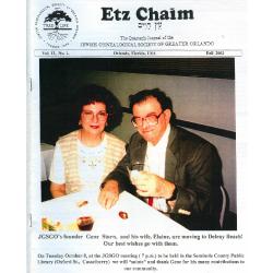 Jewish Genealogical Society of Greater Orlando Etz Chaim Vol 13 number 1