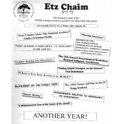 Jewish Genealogical Society of Greater Orlando Etz Chaim Vol 13 number 2