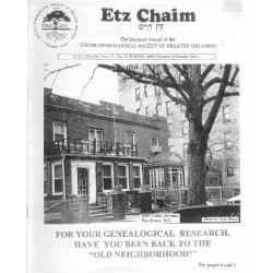 Jewish Genealogical Society of Greater Orlando Etz Chaim Vol 13 number 3