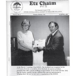 Jewish Genealogical Society of Greater Orlando Etz Chaim Vol 13 number 4