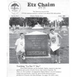 Jewish Genealogical Society of Greater Orlando Etz Chaim Vol 14 number 1
