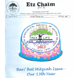 Jewish Genealogical Society of Greater Orlando Etz Chaim Vol 14 number 2