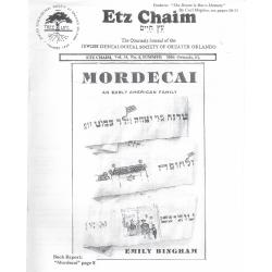 Jewish Genealogical Society of Greater Orlando Etz Chaim Vol 14 number 4