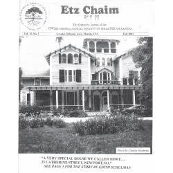 Jewish Genealogical Society of Greater Orlando Etz Chaim Vol 15 number 1