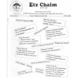 Jewish Genealogical Society of Greater Orlando Etz Chaim Vol 15 number 2