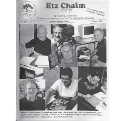 Jewish Genealogical Society of Greater Orlando Etz Chaim Vol 15 number 4