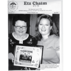 Jewish Genealogical Society of Greater Orlando Etz Chaim Vol 16 number 1