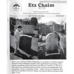 Jewish Genealogical Society of Greater Orlando Etz Chaim Vol 16 number 2