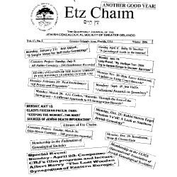 Jewish Genealogical Society of Greater Orlando Etz Chaim Vol 17 number 2