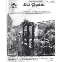 Jewish Genealogical Society of Greater Orlando Etz Chaim Vol 18 number 2