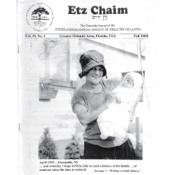 Jewish Genealogical Society of Greater Orlando Etz Chaim Vol 19 number 1