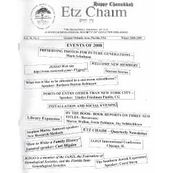 Jewish Genealogical Society of Greater Orlando Etz Chaim Vol 19 number 2