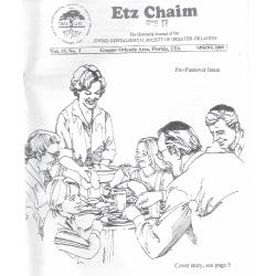 Jewish Genealogical Society of Greater Orlando Etz Chaim Vol 19 number 3
