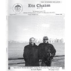 Jewish Genealogical Society of Greater Orlando Etz Chaim Vol 19 number 4