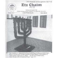 Jewish Genealogical Society of Greater Orlando Etz Chaim Vol 20 number 2