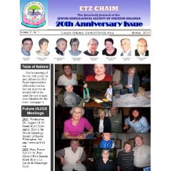 Jewish Genealogical Society of Greater Orlando Etz Chaim Vol 21 number 1 Revised