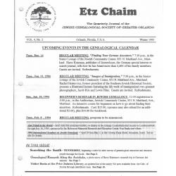 Jewish Genealogical Society of Greater Orlando Etz Chaim Vol 4 number 2