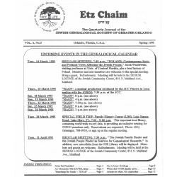 Jewish Genealogical Society of Greater Orlando Etz Chaim Vol 5 number 3