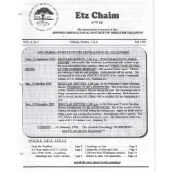 Jewish Genealogical Society of Greater Orlando Etz Chaim Vol 6 number 1