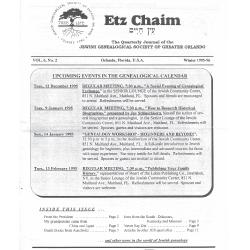Jewish Genealogical Society of Greater Orlando Etz Chaim Vol 6 number 2