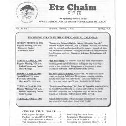 Jewish Genealogical Society of Greater Orlando Etz Chaim Vol 6 number 3