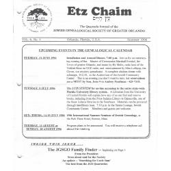 Jewish Genealogical Society of Greater Orlando Etz Chaim Vol 6 number 4
