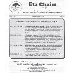 Jewish Genealogical Society of Greater Orlando Etz Chaim Vol 7 number 1