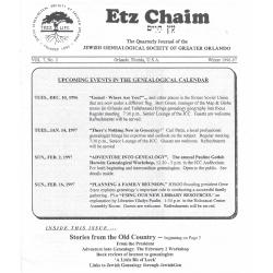 Jewish Genealogical Society of Greater Orlando Etz Chaim Vol 7 number 2