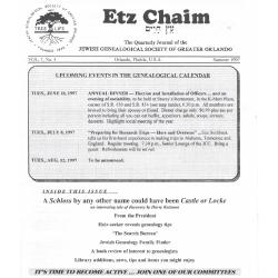 Jewish Genealogical Society of Greater Orlando Etz Chaim Vol 7 number 4