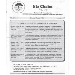 Jewish Genealogical Society of Greater Orlando Etz Chaim Vol 8 number 1