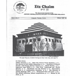 Jewish Genealogical Society of Greater Orlando Etz Chaim Vol 8 number 2