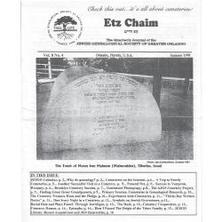 Jewish Genealogical Society of Greater Orlando Etz Chaim Vol 8 number 4