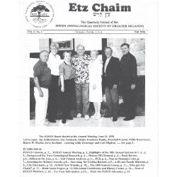 Jewish Genealogical Society of Greater Orlando Etz Chaim Vol 9 number 1