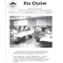Jewish Genealogical Society of Greater Orlando Etz Chaim Vol 9 number 3