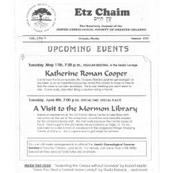 Jewish Genealogical Society of Greater Orlando Etz Chaim Vol 3 number 4
